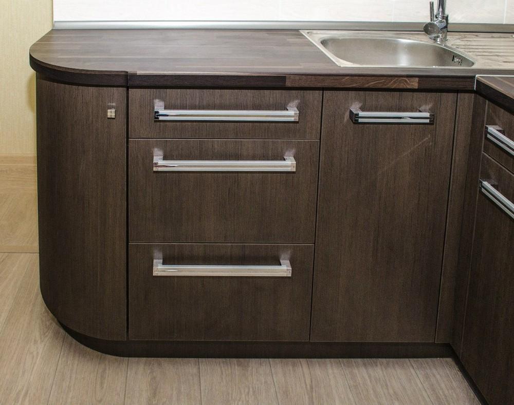 Акриловые кухни-Кухня из пластика «Модель 133»-фото4