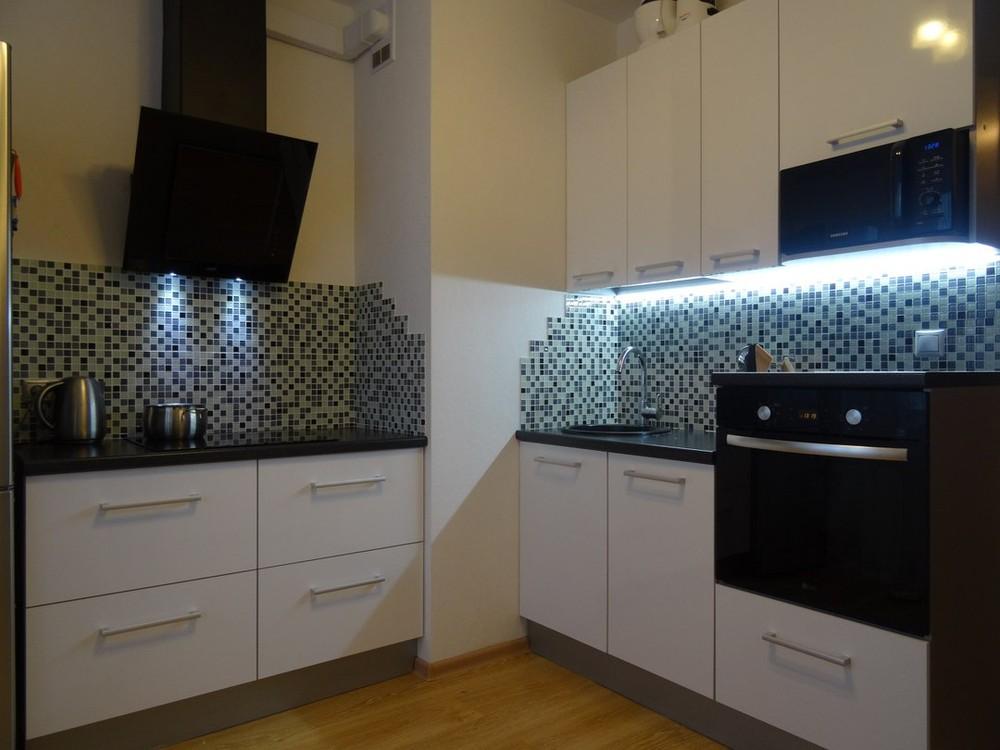 Акриловые кухни-Кухня из пластика «Модель 131»-фото1