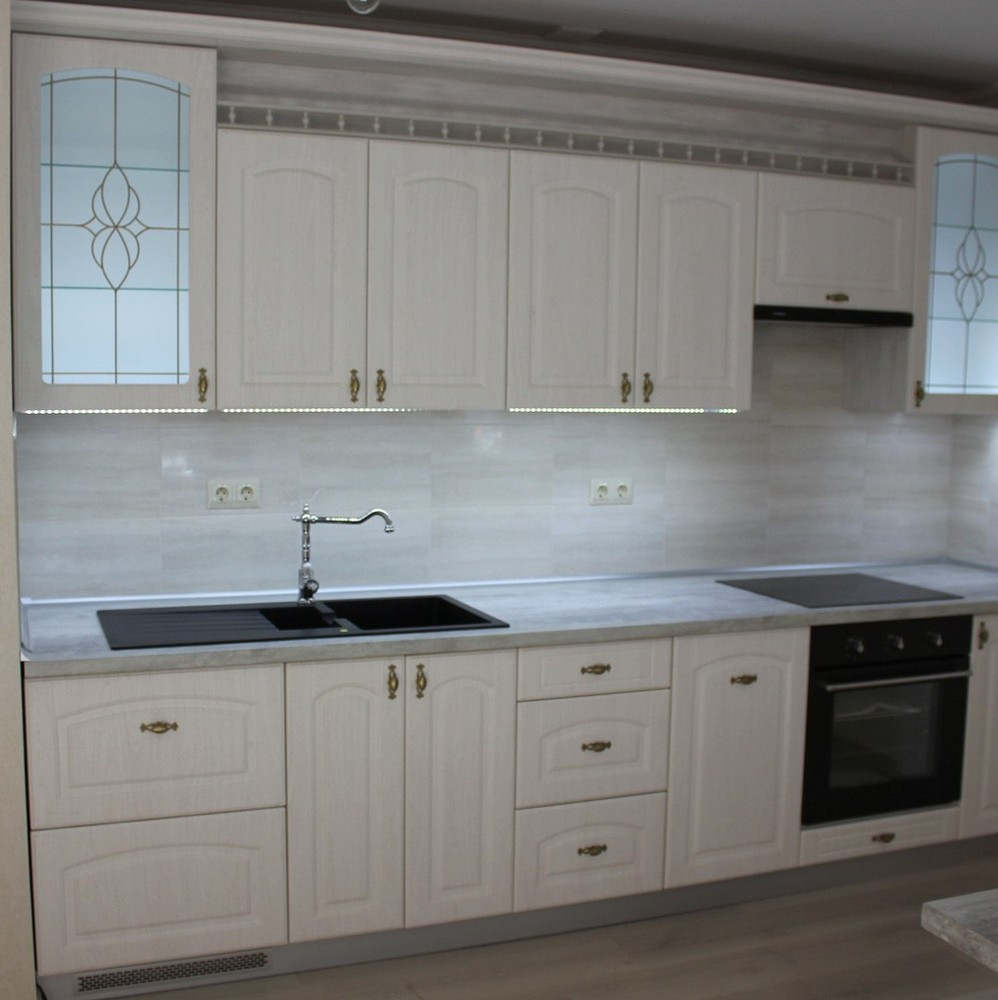 Акриловые кухни-Кухня из пластика «Модель 185»-фото1