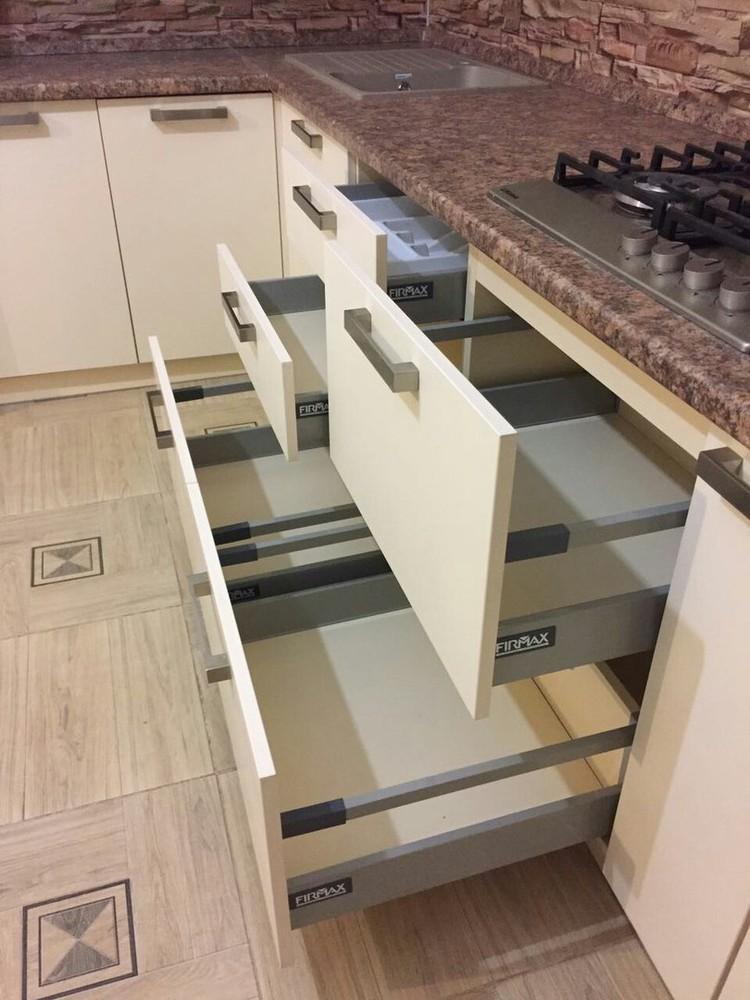 Белый кухонный гарнитур-Кухня МДФ в ПВХ «Модель 165»-фото5