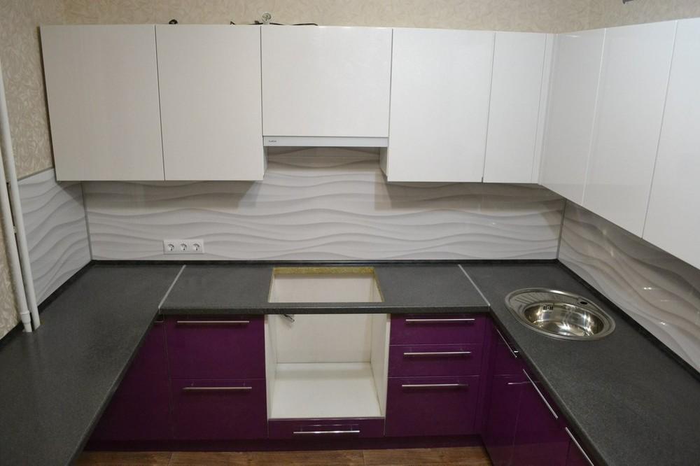 Встроенная кухня-Кухня МДФ в ПВХ «Модель 161»-фото4