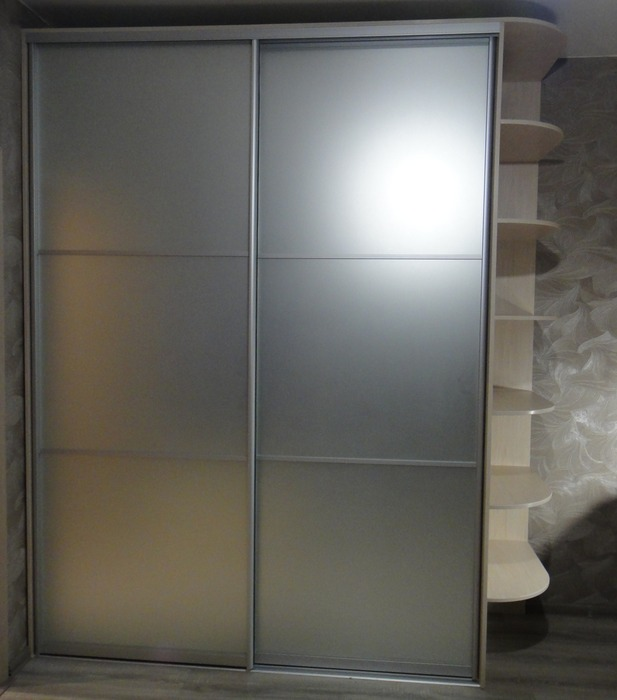Двухдверный шкаф-купе-Шкаф-купе из ЛДСП «Модель 180»-фото1