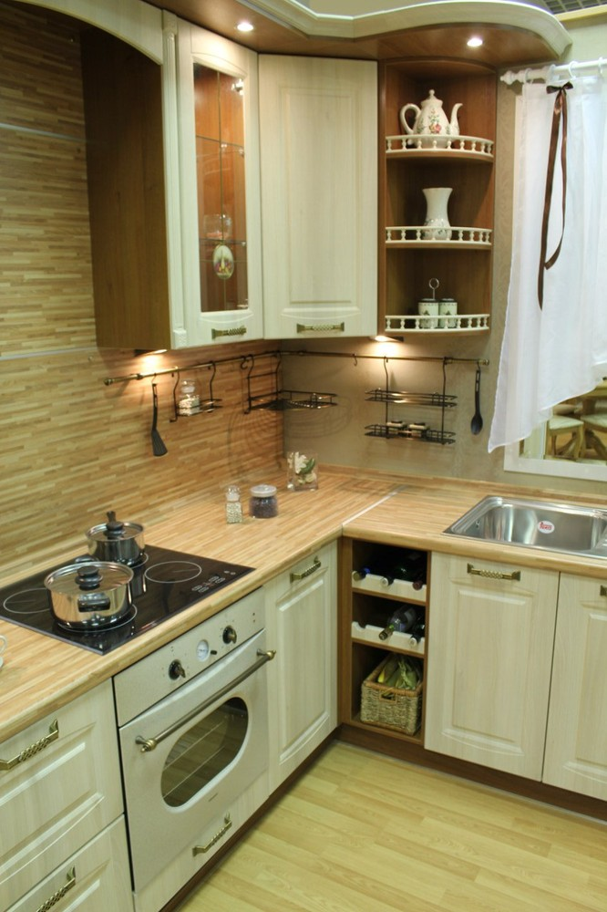 Белый кухонный гарнитур-Кухня МДФ в ПВХ «Модель 128»-фото4