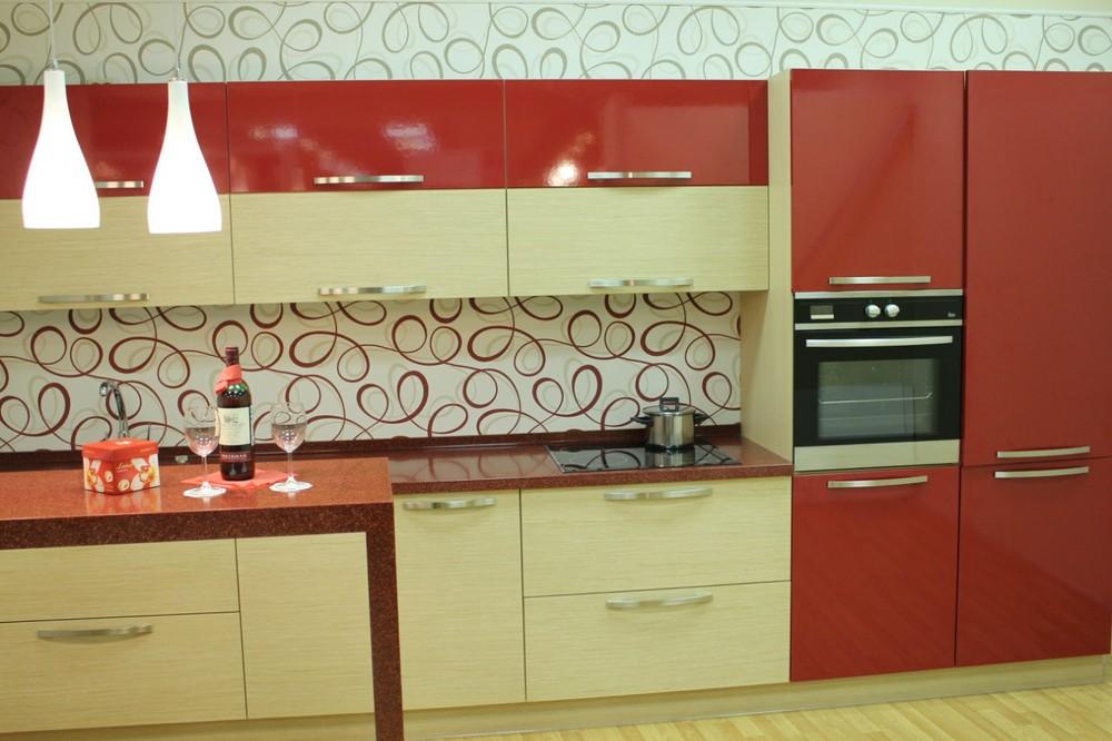 Акриловые кухни-Кухня из пластика «Модель 129»-фото2