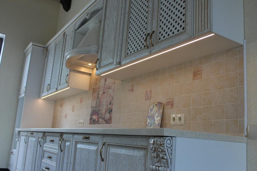 Белый кухонный гарнитур-Кухня из массива «Модель 42»-фото2