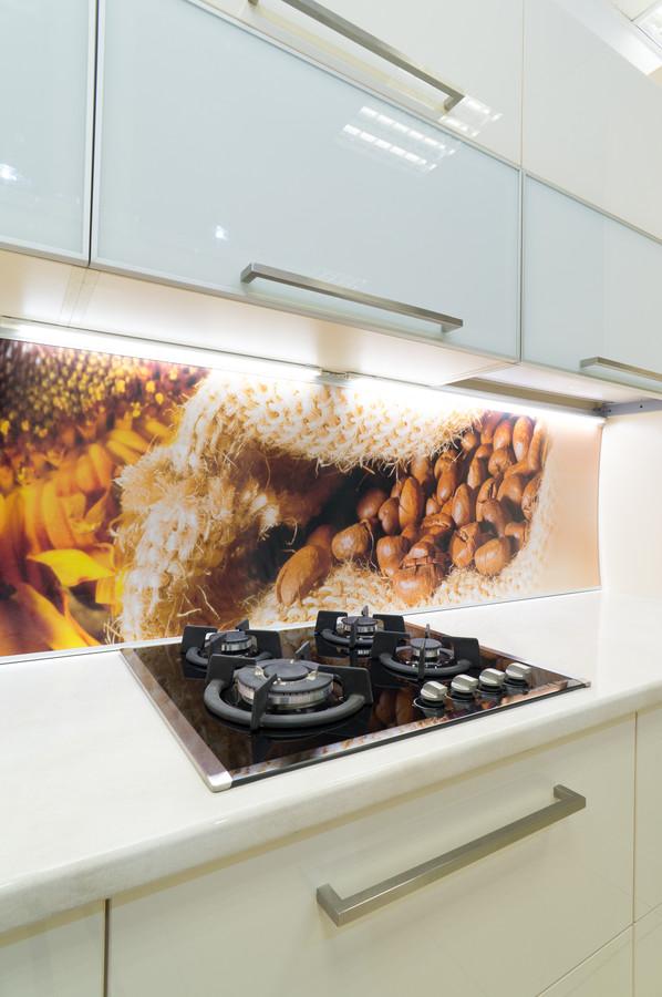 Белый кухонный гарнитур-Кухня МДФ в пластике «Модель 56»-фото4