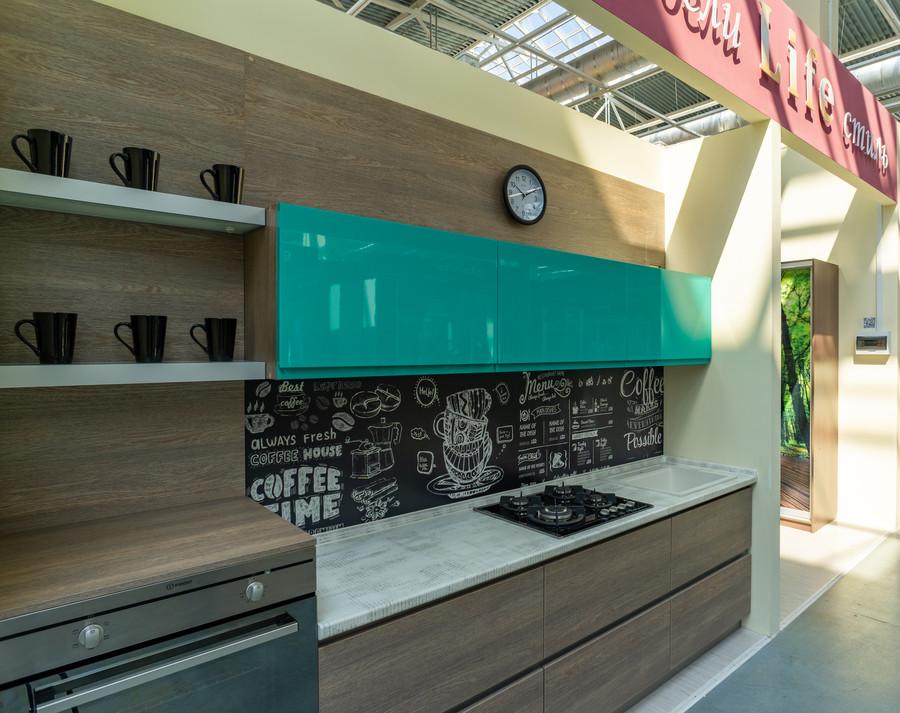 Встроенная кухня-Кухня МДФ в эмали «Модель 49»-фото1