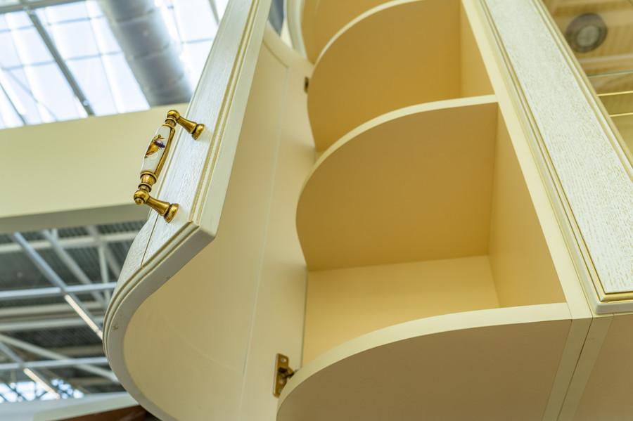 Белый кухонный гарнитур-Кухня МДФ в пластике «Модель 50»-фото7