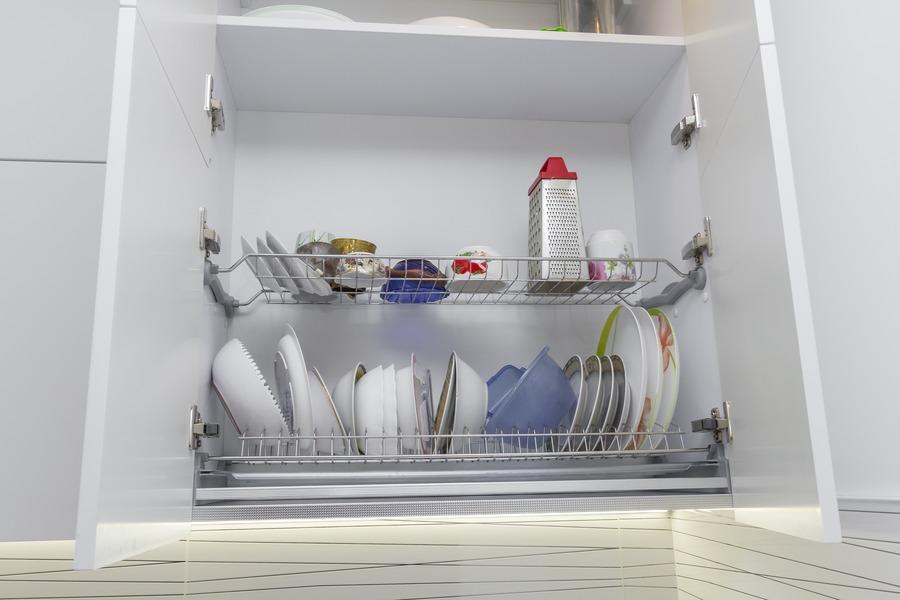 Белый кухонный гарнитур-Кухня МДФ в ПВХ «Модель 9»-фото11