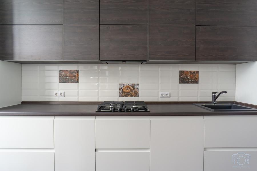 Белый кухонный гарнитур-Кухня МДФ в эмали «Модель 6»-фото5