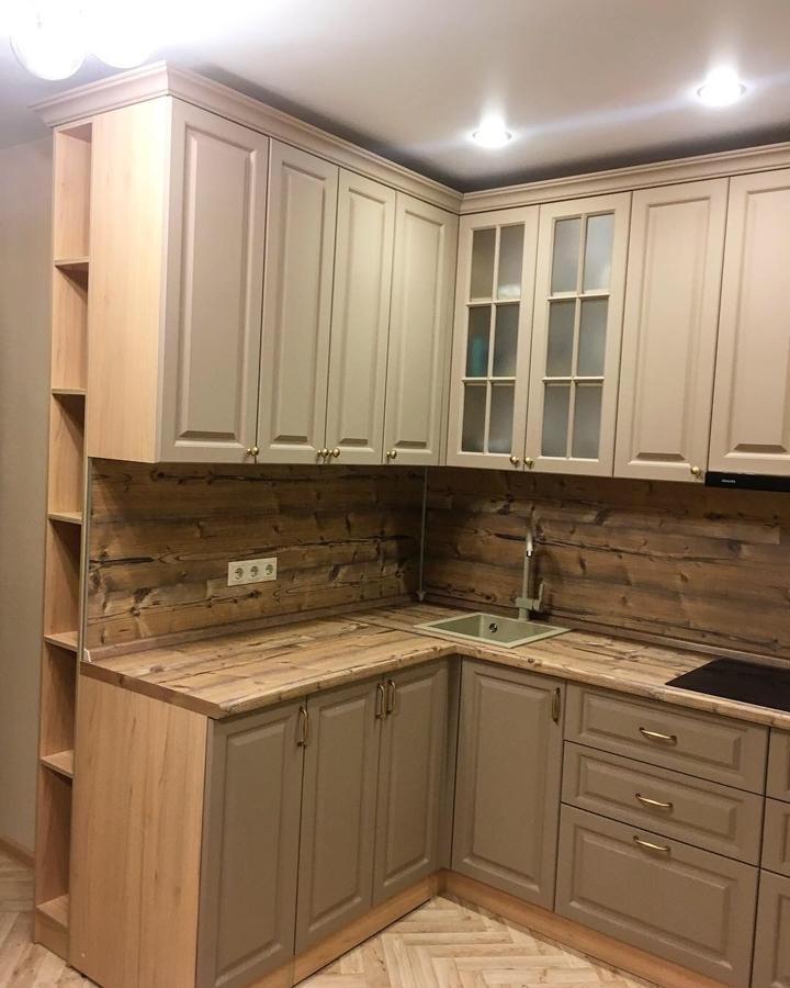 Высокие кухни под потолок-Кухня МДФ в ПВХ «Модель 62»-фото4