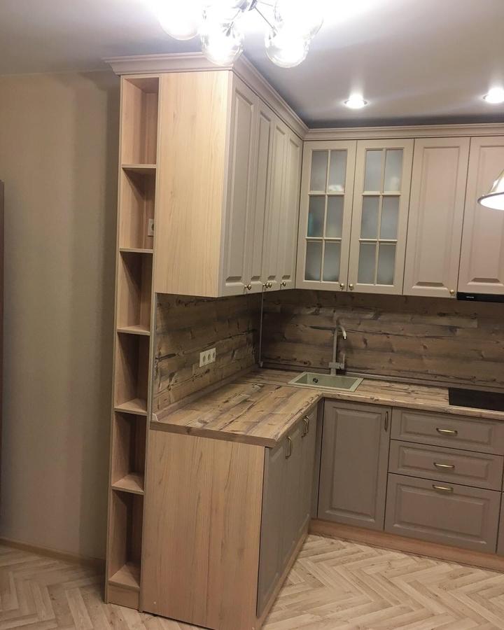 Высокие кухни под потолок-Кухня МДФ в ПВХ «Модель 62»-фото5