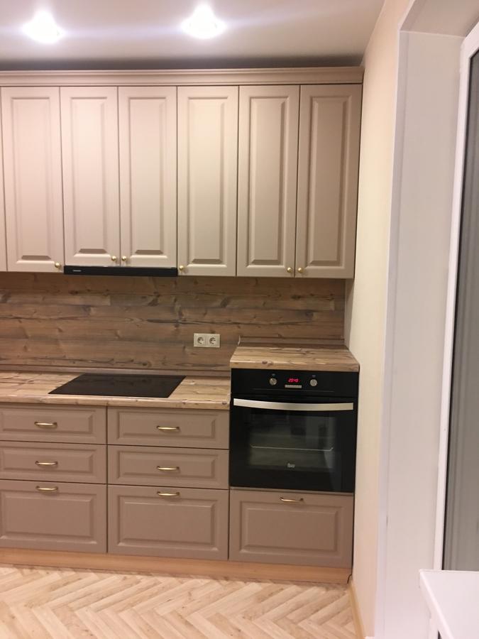 Высокие кухни под потолок-Кухня МДФ в ПВХ «Модель 62»-фото3