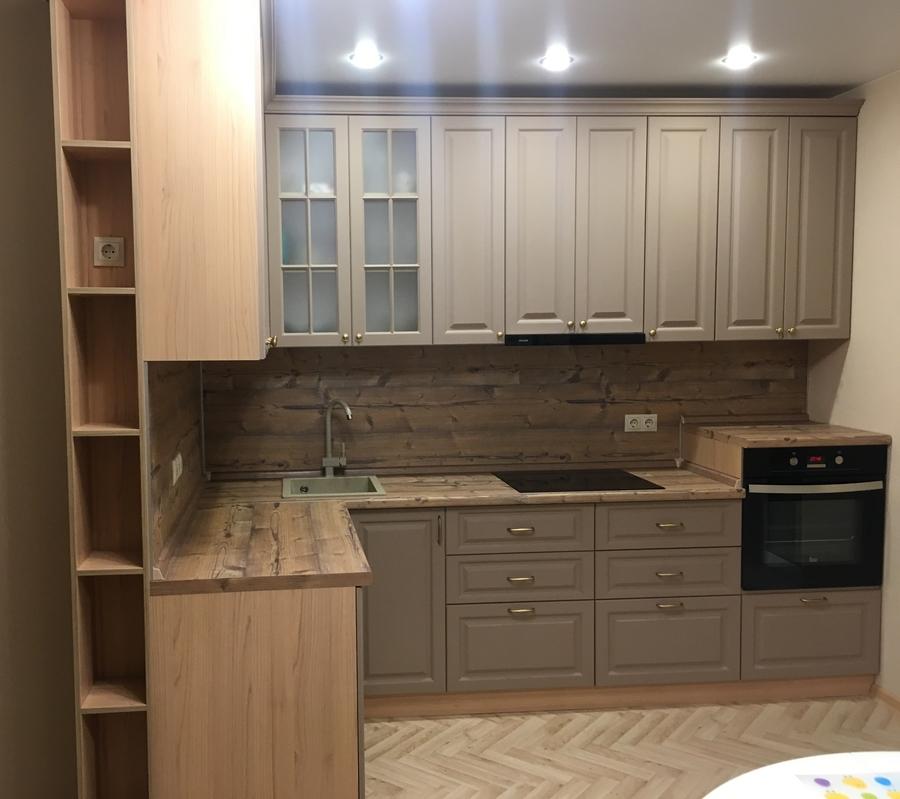 Высокие кухни под потолок-Кухня МДФ в ПВХ «Модель 62»-фото1