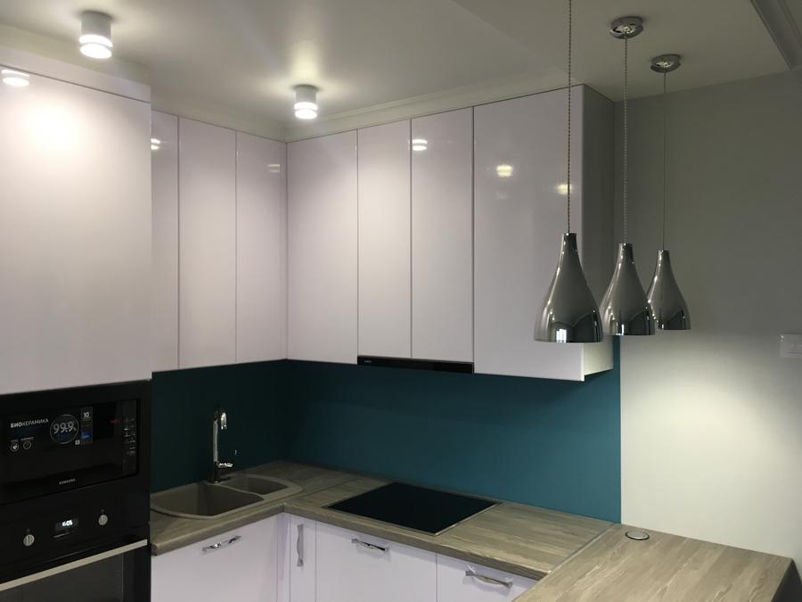 Белый кухонный гарнитур-Кухня МДФ в ПВХ «Модель 63»-фото5