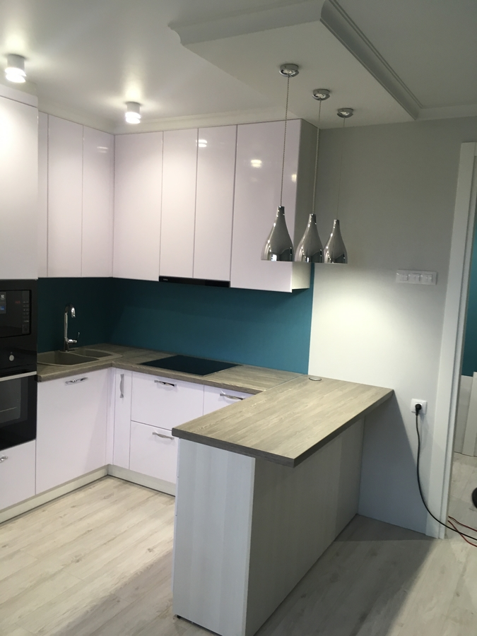 Белый кухонный гарнитур-Кухня МДФ в ПВХ «Модель 63»-фото2