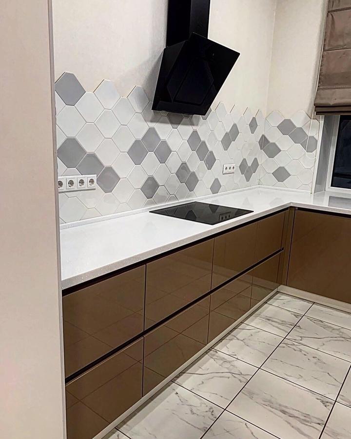 Встроенная кухня-Кухня МДФ в ПВХ «Модель 60»-фото2