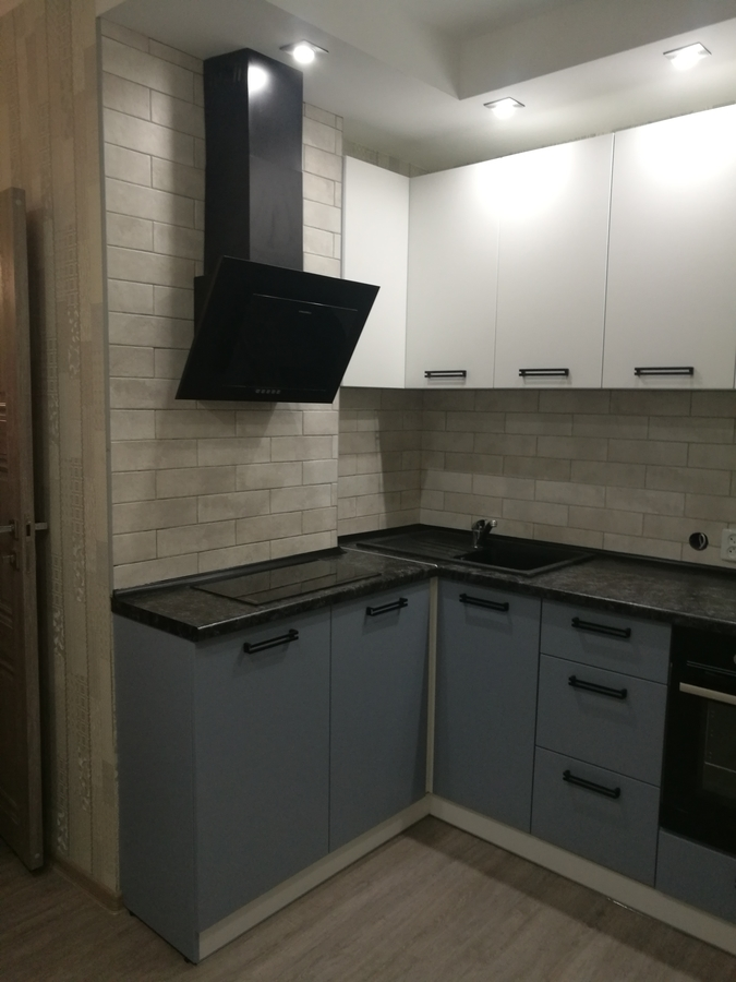 Белый кухонный гарнитур-Кухня МДФ в ПВХ «Модель 30»-фото2