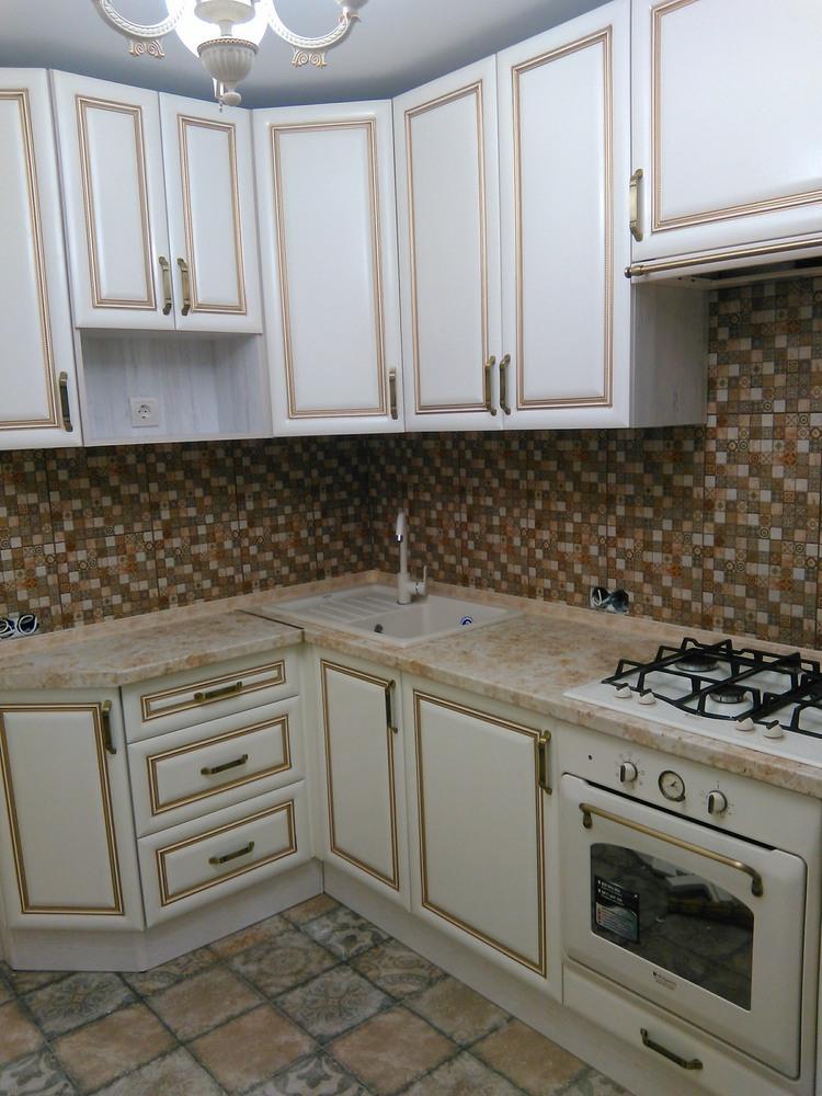 Белый кухонный гарнитур-Кухня МДФ в ПВХ «Модель 340»-фото6
