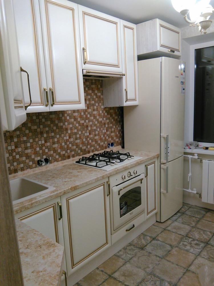 Белый кухонный гарнитур-Кухня МДФ в ПВХ «Модель 340»-фото7