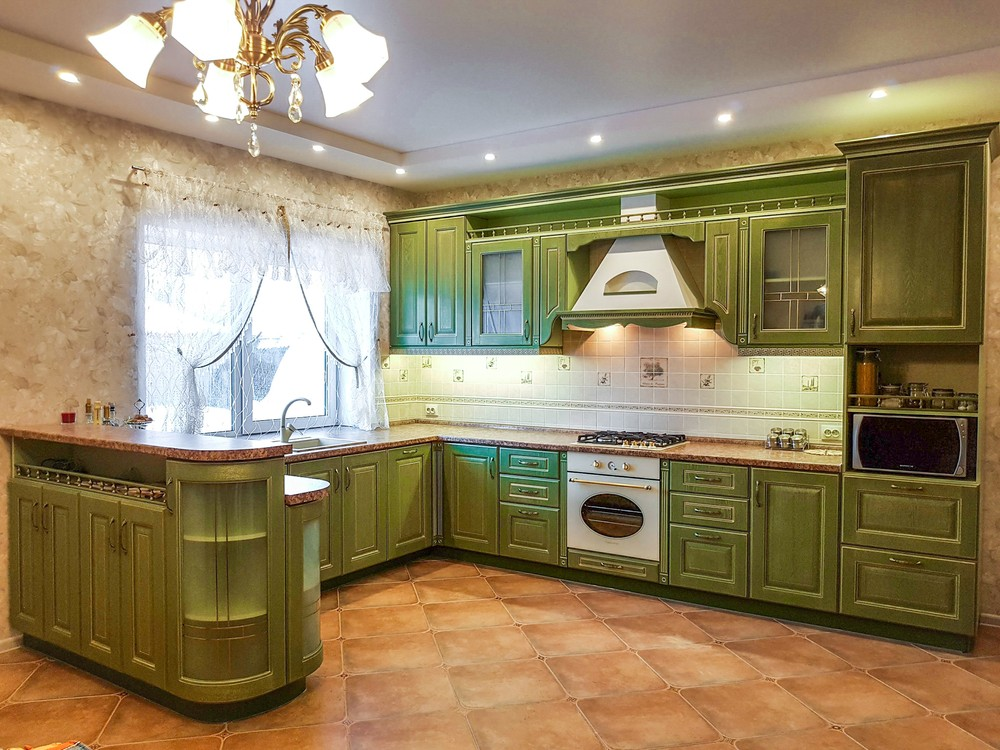 Классические кухни-Кухня из массива «Модель 23»-фото3