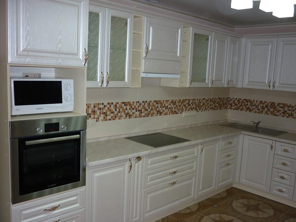 Встроенная кухня-Кухня МДФ в ПВХ «Модель 330»-фото2