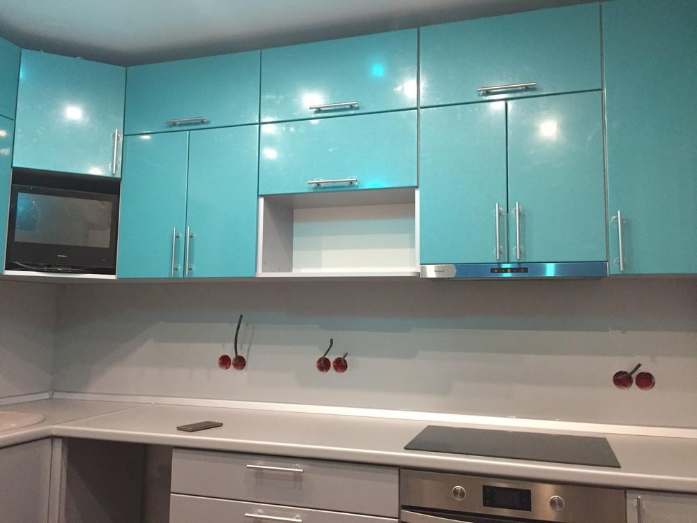 Встроенная кухня-Кухня МДФ в ПВХ «Модель 357»-фото1