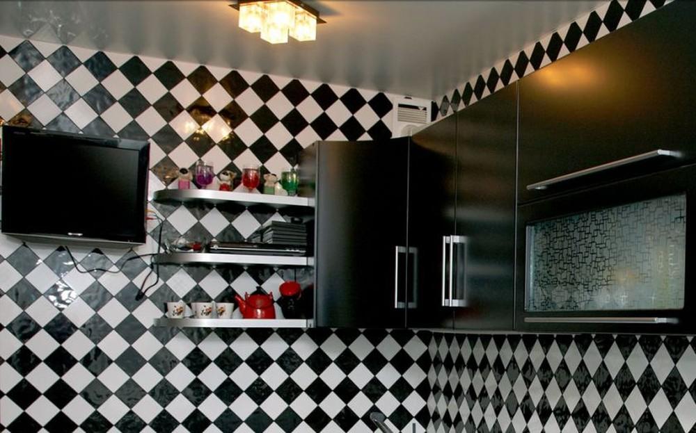 Встроенная кухня-Кухня МДФ в ПВХ «Модель 372»-фото5