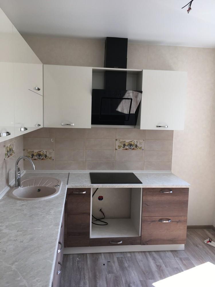 Белый кухонный гарнитур-Кухня МДФ в шпоне «Модель 318»-фото5