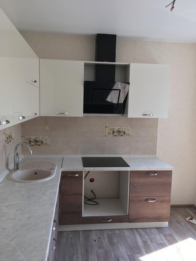 Белый кухонный гарнитур-Кухня МДФ в шпоне «Модель 318»-фото6
