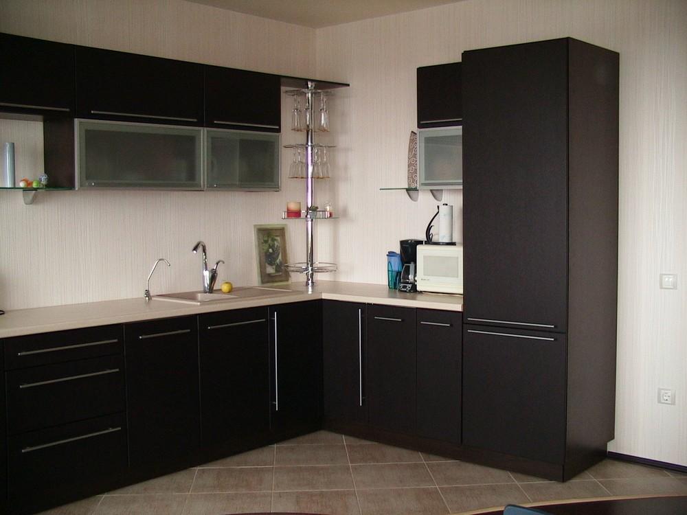 Акриловые кухни-Кухня из пластика «Модель 105»-фото1