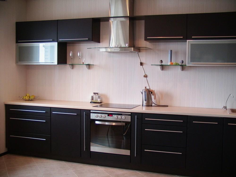Акриловые кухни-Кухня из пластика «Модель 105»-фото2