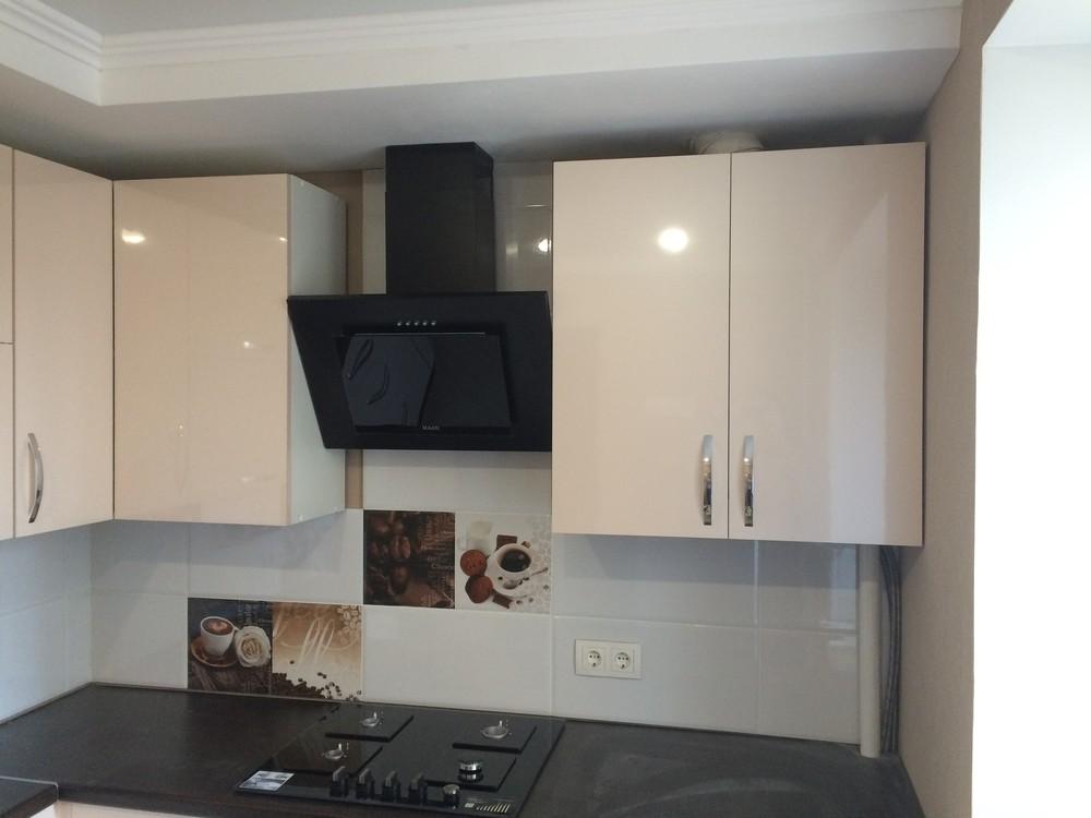 Белый кухонный гарнитур-Кухня МДФ в ПВХ «Модель 323»-фото2