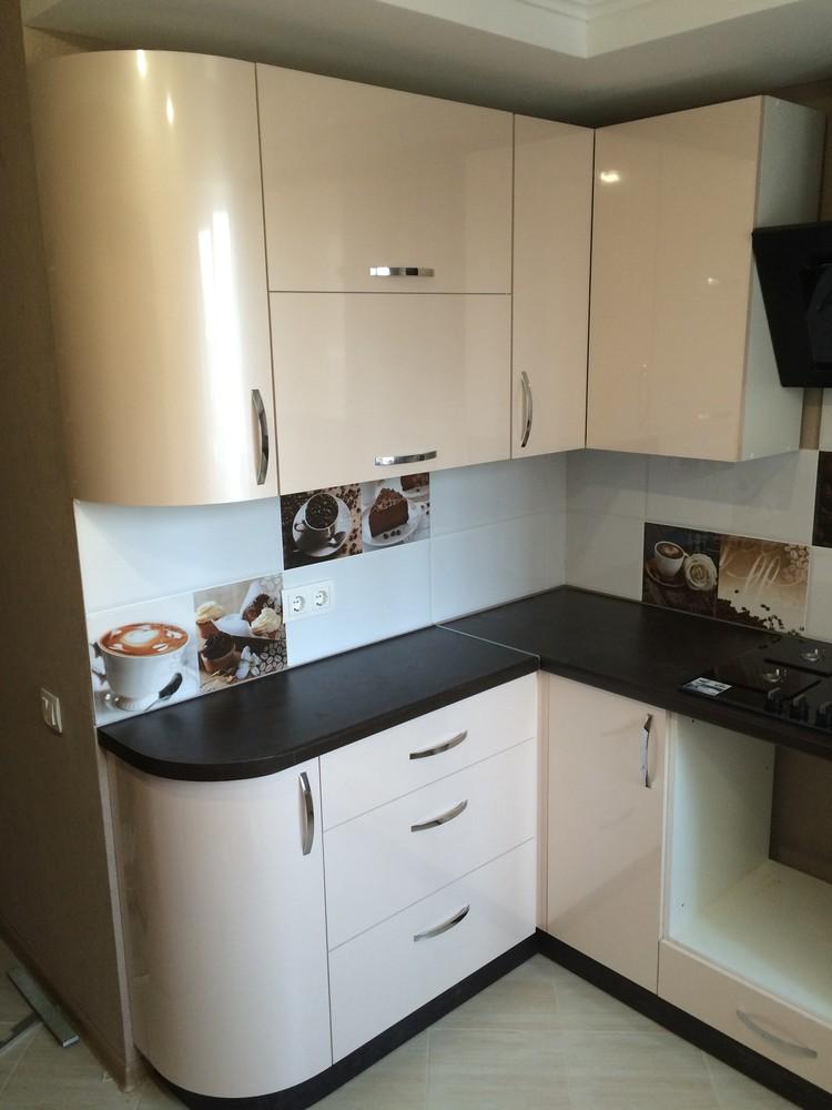 Белый кухонный гарнитур-Кухня МДФ в ПВХ «Модель 323»-фото5