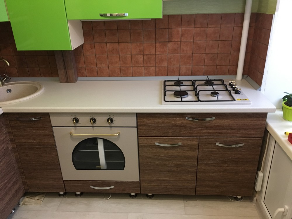 Встроенная кухня-Кухня МДФ в ПВХ «Модель 310»-фото2
