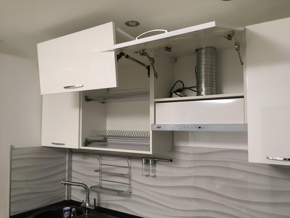 Белый кухонный гарнитур-Кухня МДФ в ПВХ «Модель 311»-фото5