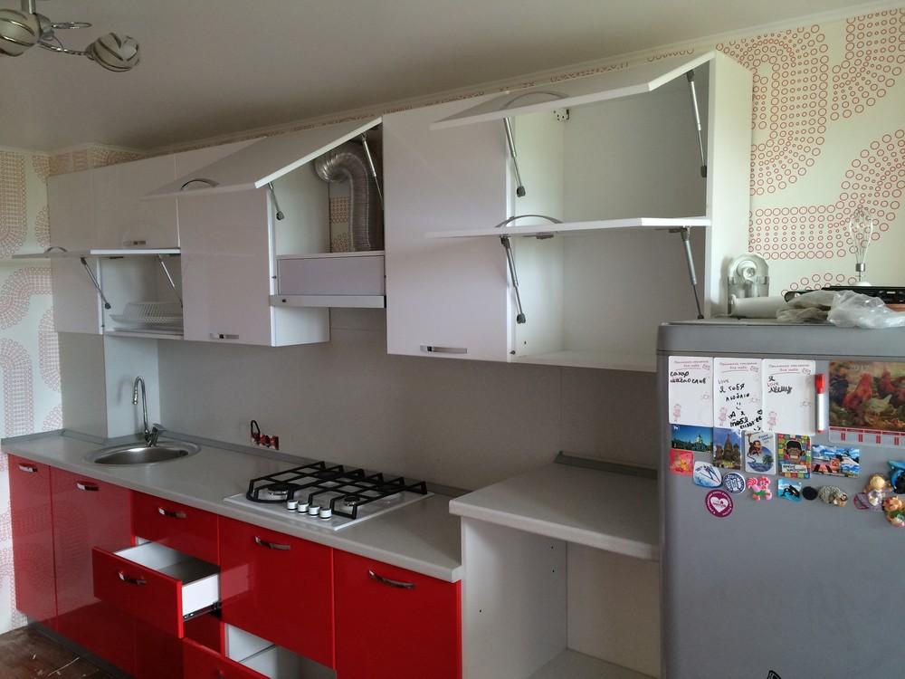 Белый кухонный гарнитур-Кухня МДФ в эмали «Модель 312»-фото4