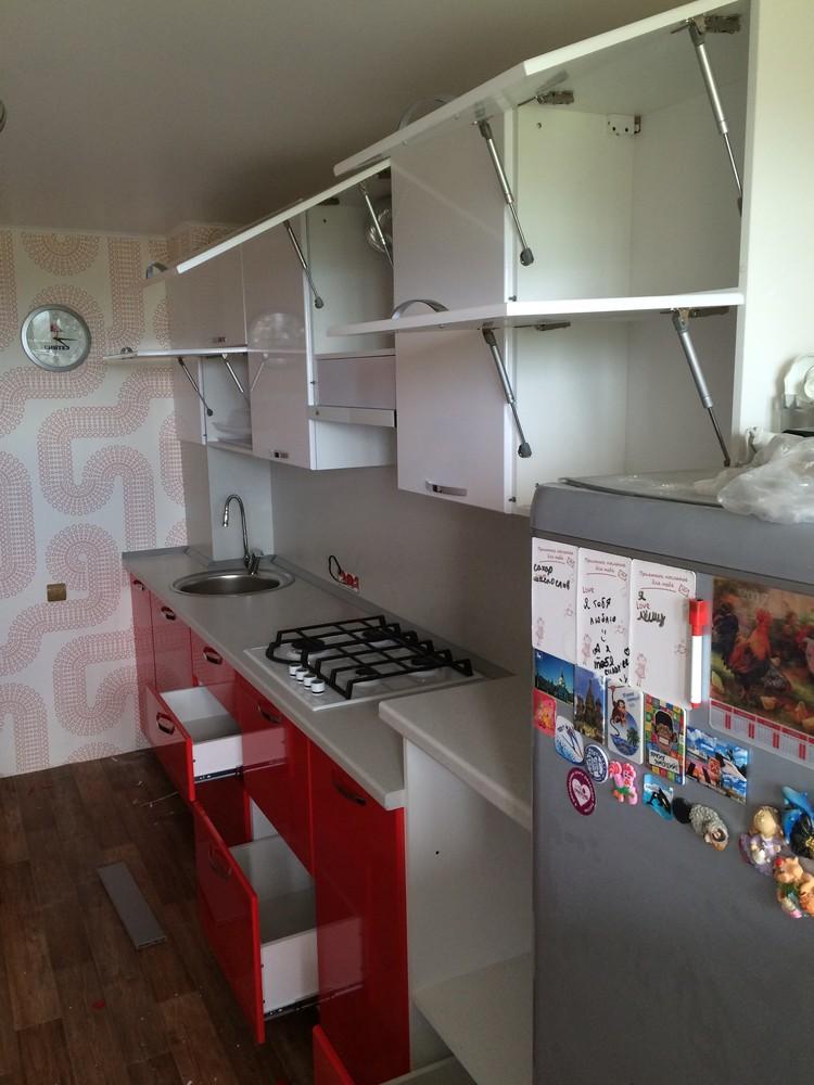 Белый кухонный гарнитур-Кухня МДФ в эмали «Модель 312»-фото6