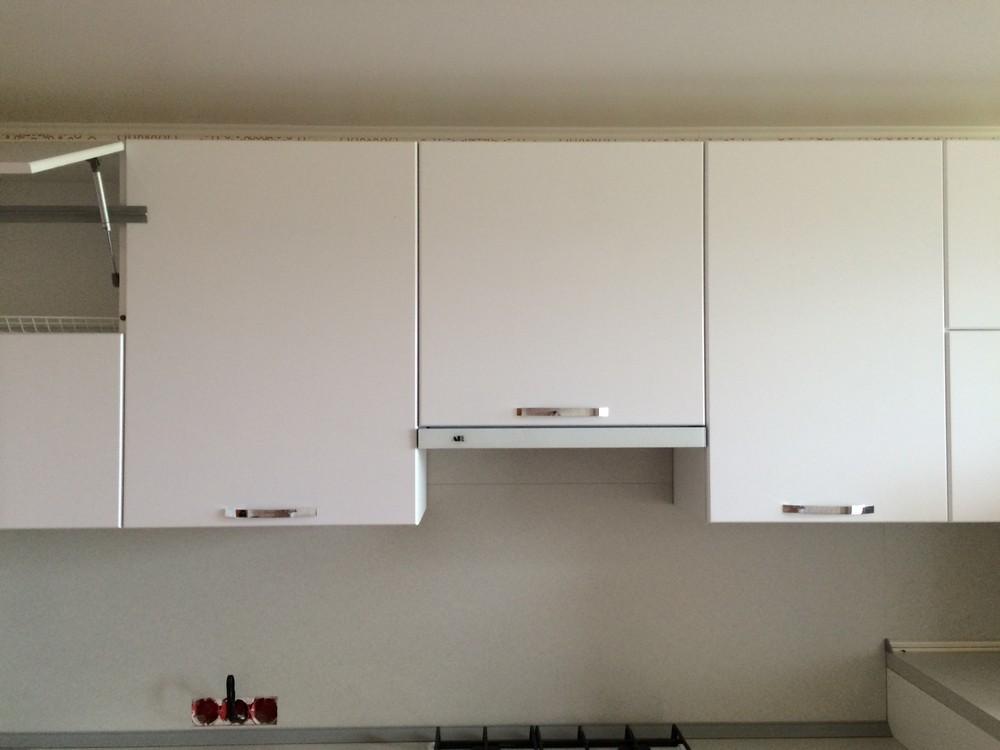 Белый кухонный гарнитур-Кухня МДФ в эмали «Модель 312»-фото8