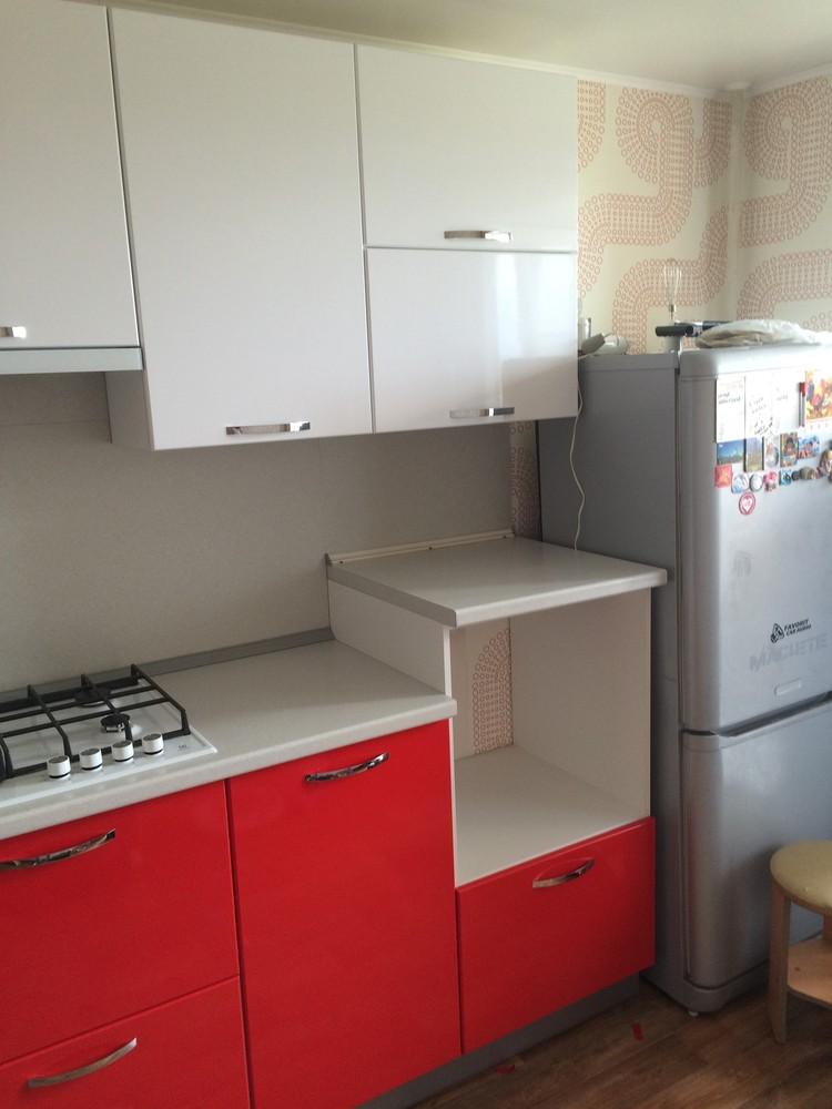 Белый кухонный гарнитур-Кухня МДФ в эмали «Модель 312»-фото9