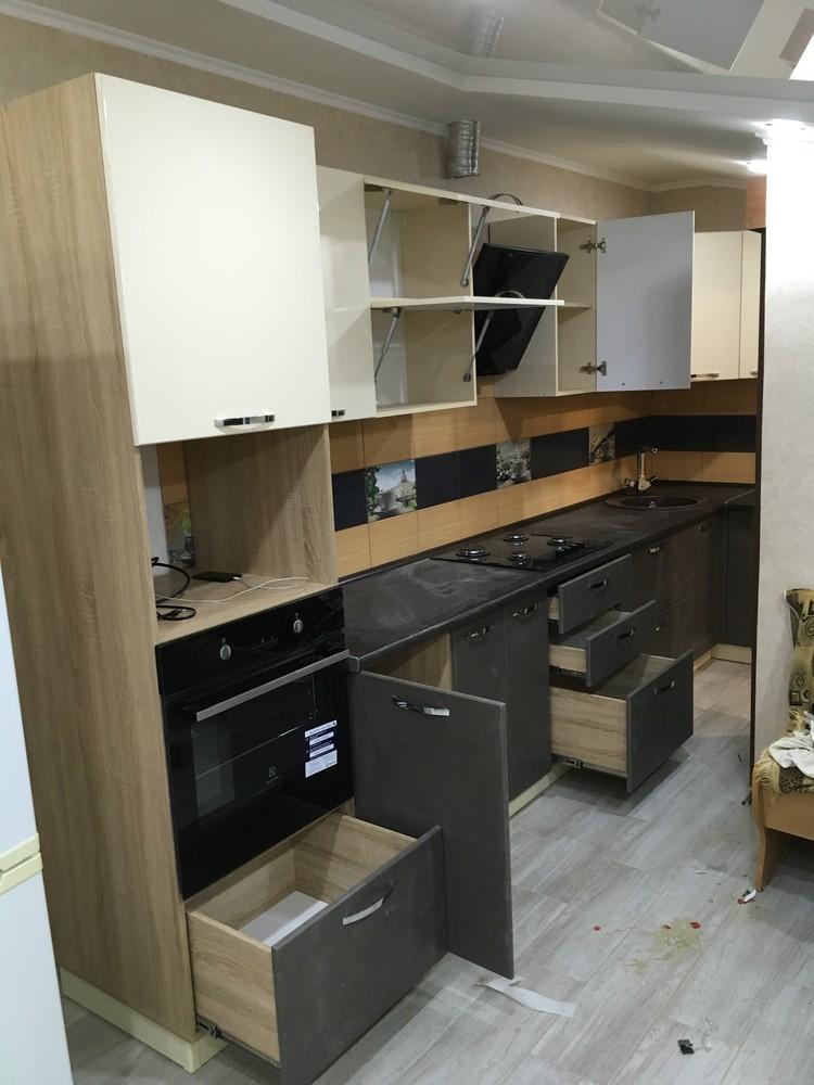 Белый кухонный гарнитур-Кухня МДФ в ПВХ «Модель 314»-фото6