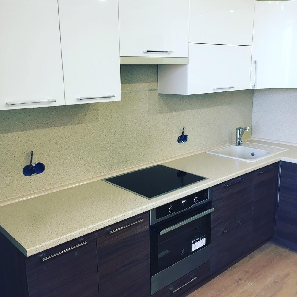 Встроенная кухня-Кухня МДФ в шпоне «Модель 317»-фото8