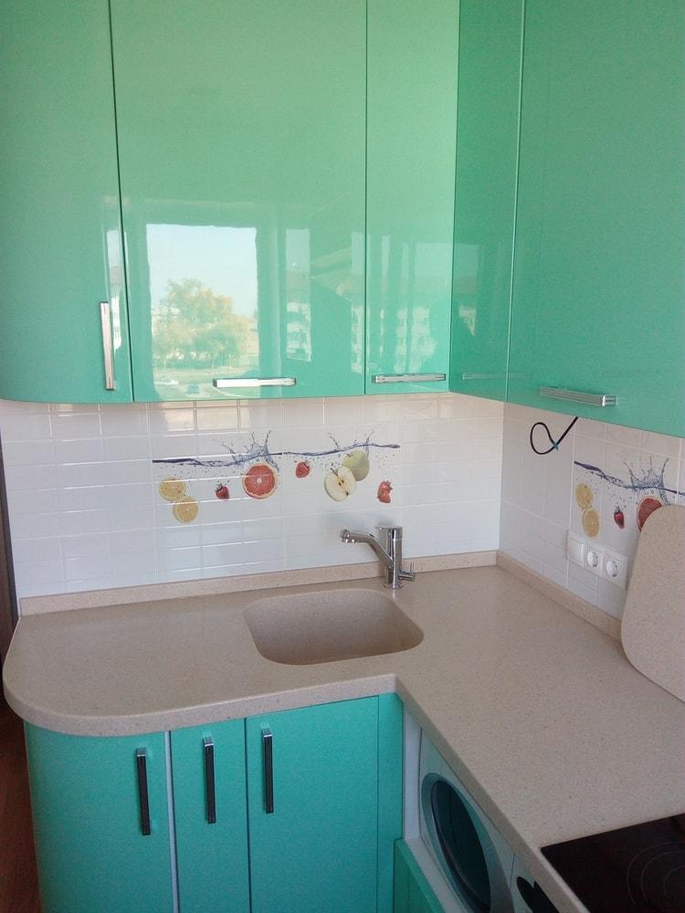 Встроенная кухня-Кухня МДФ в шпоне «Модель 335»-фото2