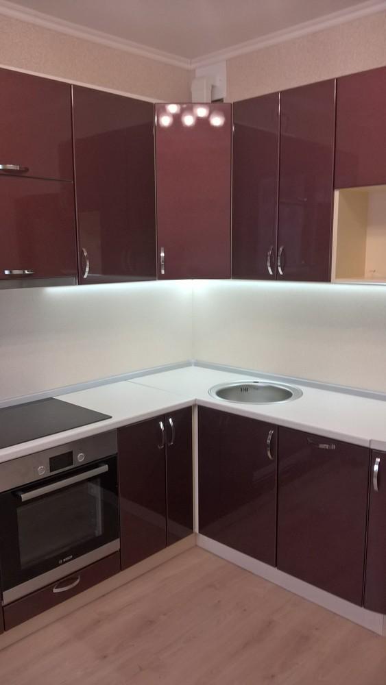 Белый кухонный гарнитур-Кухня МДФ в ПВХ «Модель 366»-фото2