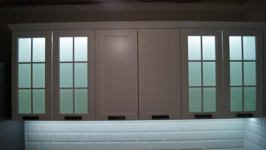 Белый кухонный гарнитур-Кухня МДФ в эмали «Модель 202»-фото5