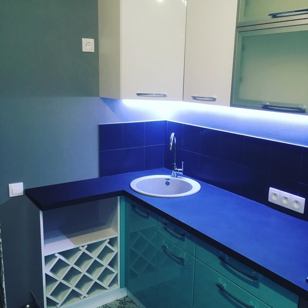 Белый кухонный гарнитур-Кухня МДФ в ПВХ «Модель 320»-фото7