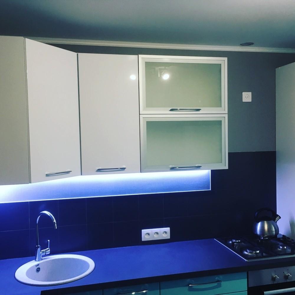 Белый кухонный гарнитур-Кухня МДФ в ПВХ «Модель 320»-фото9