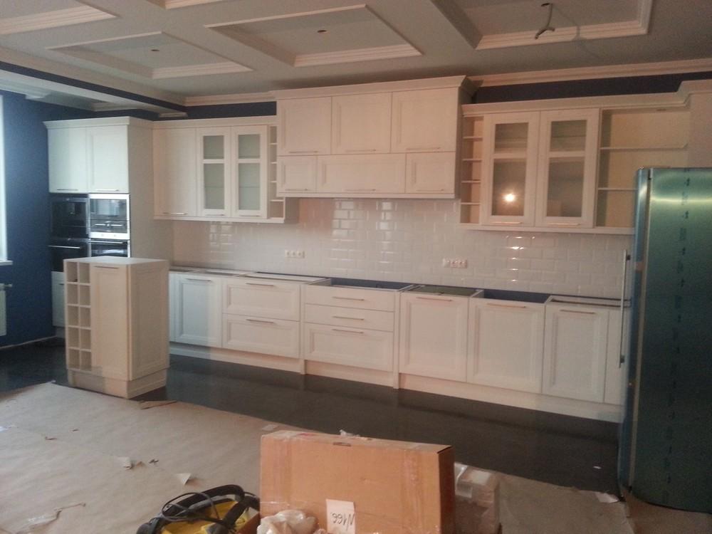 Белый кухонный гарнитур-Кухня МДФ в ПВХ «Модель 210»-фото2