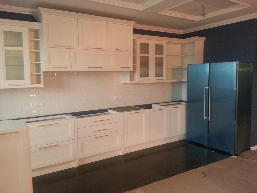 Белый кухонный гарнитур-Кухня МДФ в ПВХ «Модель 210»-фото4