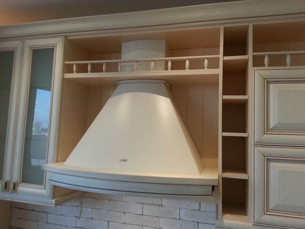 Белый кухонный гарнитур-Кухня из массива «Модель 276»-фото4